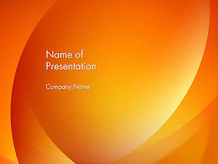 Orange Abstract Arcs PowerPoint Template