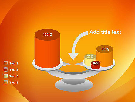 Orange Abstract Arcs PowerPoint Template Slide 10