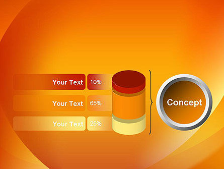 Orange Abstract Arcs PowerPoint Template Slide 11