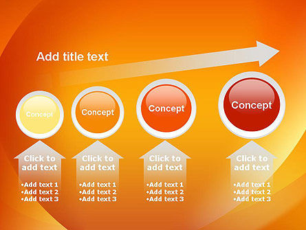 Orange Abstract Arcs PowerPoint Template Slide 13