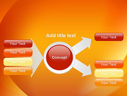 Orange Abstract Arcs PowerPoint Template Slide 14