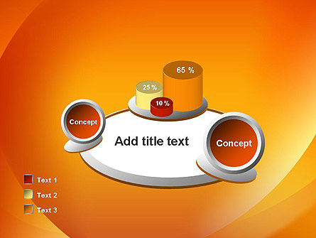 Orange Abstract Arcs PowerPoint Template Slide 16