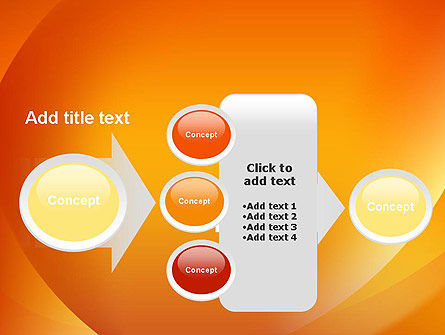 Orange Abstract Arcs PowerPoint Template Slide 17
