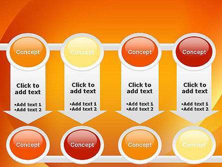 Orange Abstract Arcs PowerPoint Template Slide 18
