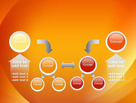 Orange Abstract Arcs PowerPoint Template Slide 19