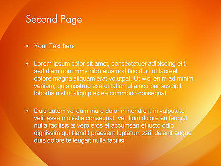 Orange Abstract Arcs PowerPoint Template, Slide 2, 13079, Abstract/Textures — PoweredTemplate.com
