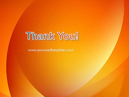 Orange Abstract Arcs PowerPoint Template Slide 20
