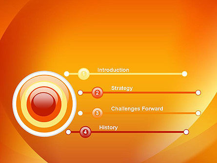 Orange Abstract Arcs PowerPoint Template Slide 3