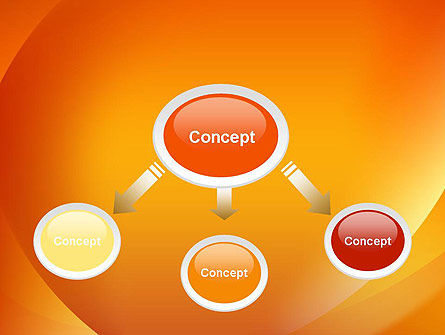 Orange Abstract Arcs PowerPoint Template Slide 4
