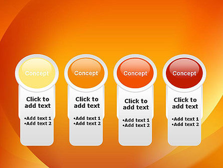 Orange Abstract Arcs PowerPoint Template Slide 5