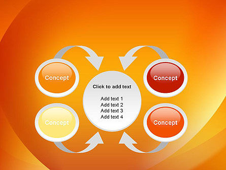 Orange Abstract Arcs PowerPoint Template Slide 6