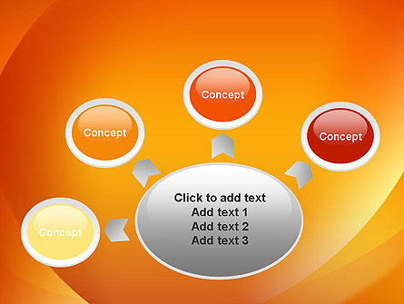 Orange Abstract Arcs PowerPoint Template Slide 7