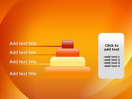Orange Abstract Arcs PowerPoint Template Slide 8