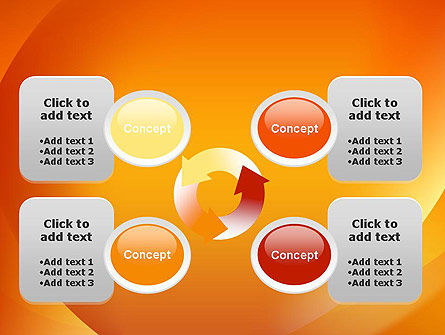 Orange Abstract Arcs PowerPoint Template Slide 9