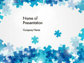 Abstract/Textures: Transparent Puzzle Pieces PowerPoint Template #13080