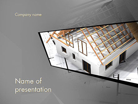 Renovation Plan PowerPoint Template, 13081, Construction — PoweredTemplate.com
