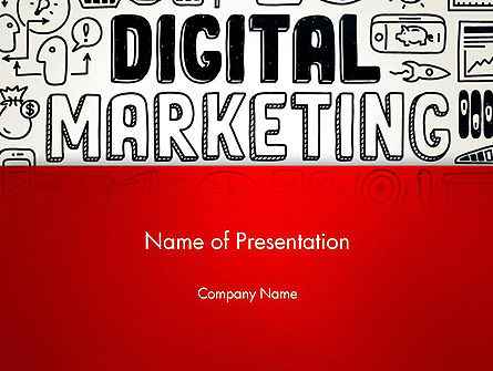 Digital Marketing Word Cloud PowerPoint Template, 13083, Careers/Industry — PoweredTemplate.com