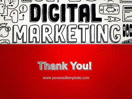 Digital Marketing Word Cloud PowerPoint Template Slide 20