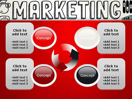 Digital Marketing Word Cloud PowerPoint Template Slide 9