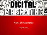 Careers/Industry: 파워포인트 템플릿 - 디지털 마케팅 단어 구름 #13083