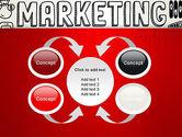 Digital Marketing Word Cloud PowerPoint Template#6