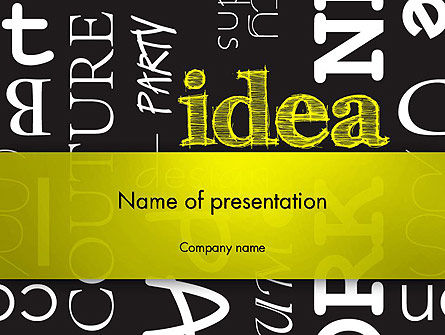 Idea Paint on Chalkboard PowerPoint Template