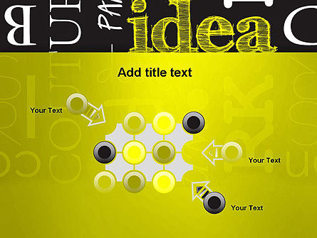Idea Paint on Chalkboard PowerPoint Template Slide 10