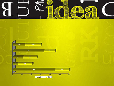 Idea Paint on Chalkboard PowerPoint Template Slide 11