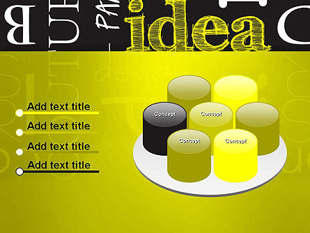 Idea Paint on Chalkboard PowerPoint Template Slide 12