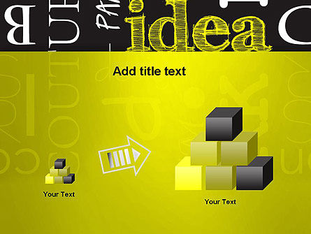 Idea Paint on Chalkboard PowerPoint Template Slide 13