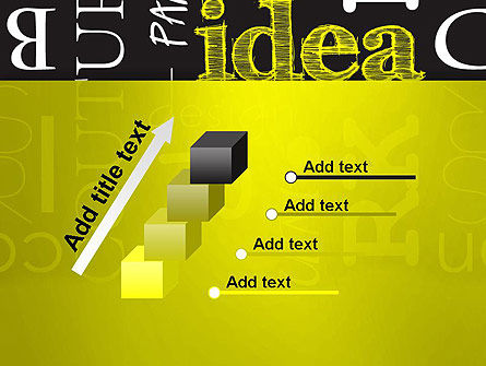 Idea Paint on Chalkboard PowerPoint Template Slide 14