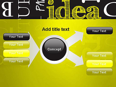 Idea Paint on Chalkboard PowerPoint Template Slide 15