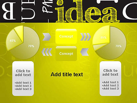 Idea Paint on Chalkboard PowerPoint Template Slide 16