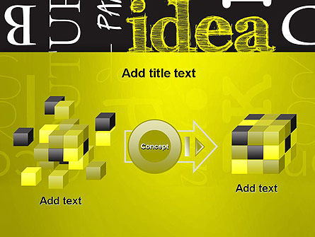 Idea Paint on Chalkboard PowerPoint Template Slide 17