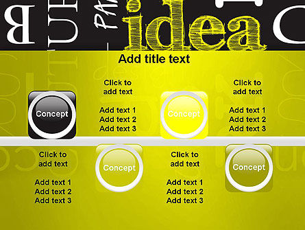 Idea Paint on Chalkboard PowerPoint Template Slide 18