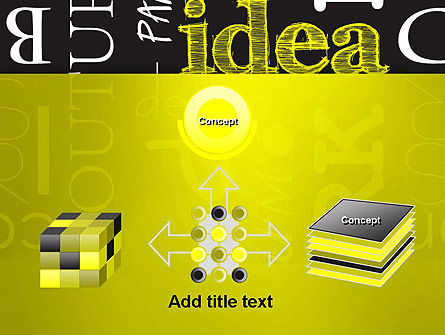 Idea Paint on Chalkboard PowerPoint Template Slide 19