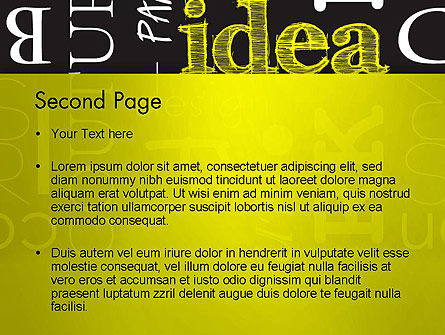 Idea Paint on Chalkboard PowerPoint Template Slide 2