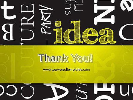 Idea Paint on Chalkboard PowerPoint Template Slide 20