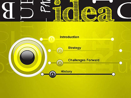 Idea Paint on Chalkboard PowerPoint Template Slide 3