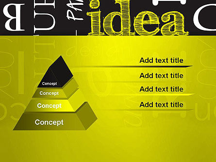 Idea Paint on Chalkboard PowerPoint Template Slide 4