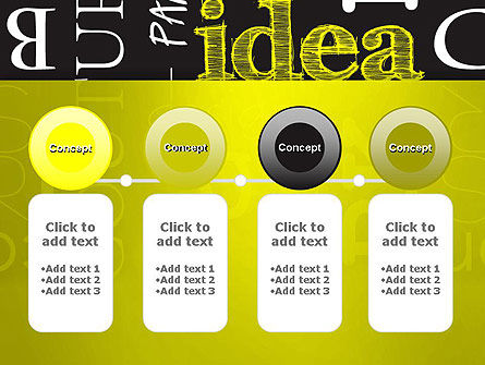 Idea Paint on Chalkboard PowerPoint Template Slide 5
