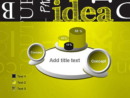 Idea Paint on Chalkboard PowerPoint Template Slide 6