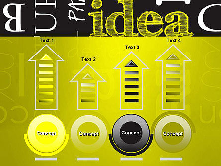 Idea Paint on Chalkboard PowerPoint Template Slide 7
