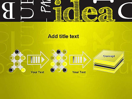 Idea Paint on Chalkboard PowerPoint Template Slide 9
