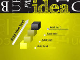 Idea Paint on Chalkboard PowerPoint Template#14