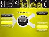 Idea Paint on Chalkboard PowerPoint Template#15