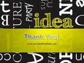 Idea Paint on Chalkboard PowerPoint Template#20