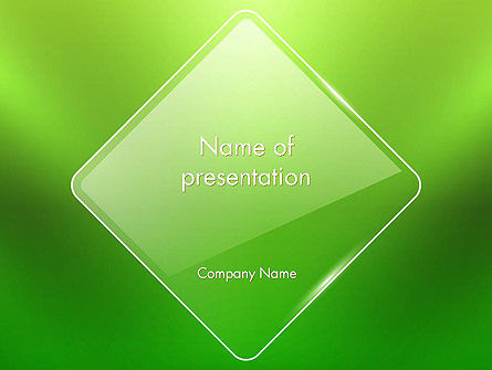 Green Rhombus PowerPoint Template, 13086, Abstract/Textures — PoweredTemplate.com