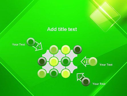 Green Rhombus PowerPoint Template Slide 10