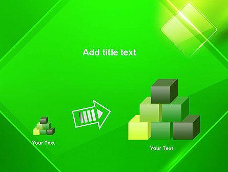 Green Rhombus PowerPoint Template Slide 13